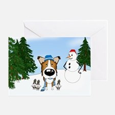 Smooth Collie Holiday Greeting Card