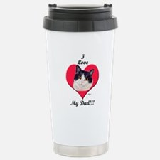 Black & White Cat Father's Da Travel Mug