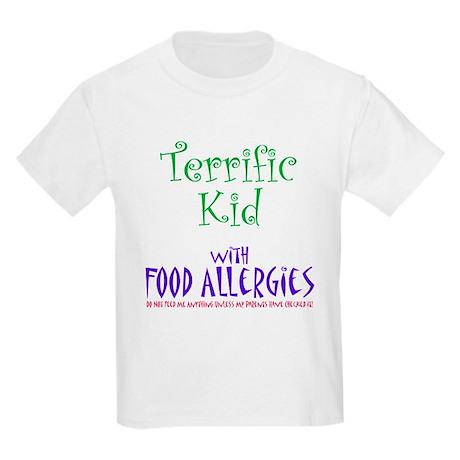 Terrific Kid with Food Allergies Kids Light T-Shir