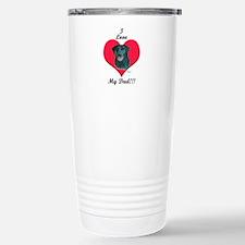 Black Lab: I love my Dad! Travel Mug
