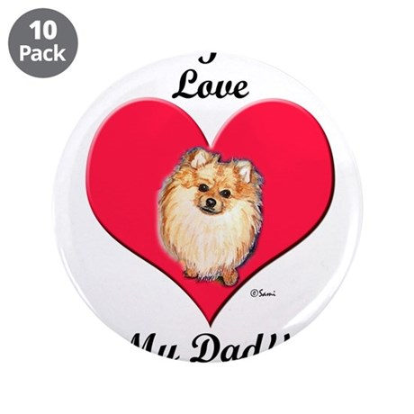 """Father's Day 3.5"""" Button (10 pack)"""
