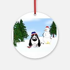 Springer Spaniel Holiday Ornament (Round)