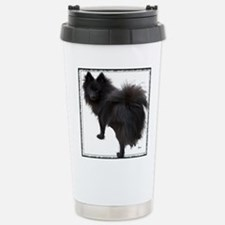 Black Pomeranian Stainless Steel Travel Mug