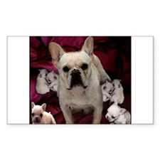 French Bulldog Mother & Puppi Decal