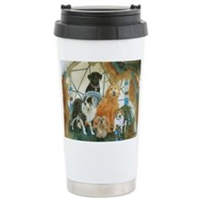 Dreamcatcher with 5 dogs Travel Mug
