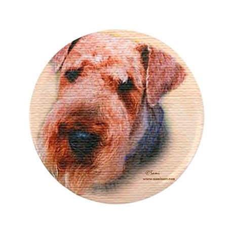 """Bogart the Airedale 3.5"""" Button (100 pack)"""