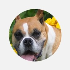 """Boxer Portrait 3.5"""" Button"""