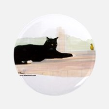 """Cat & Finch 3.5"""" Button"""