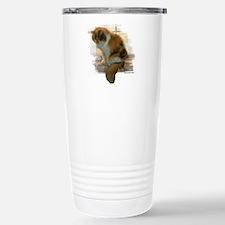 Window Calico Cat Stainless Steel Travel Mug