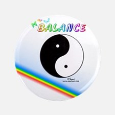 "Yin Yang Sign 3.5"" Button"