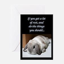 Bunny Get Well Soon Greeting Card