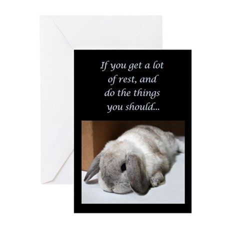 Bunny Get Well Soon Greeting Cards (Pk of 10)