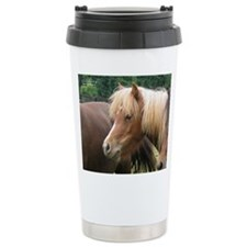 Classic Mini Horse Portrait Travel Mug