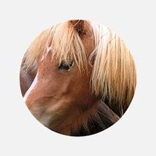 """Classic Mini Horse Portrait 3.5"""" Button"""