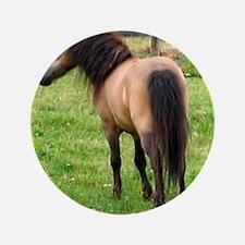 "Miniature Horse Buckin Velvet 3.5"" Button"