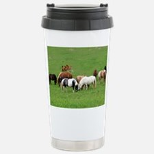Mini Horses in Pasture Stainless Steel Travel Mug