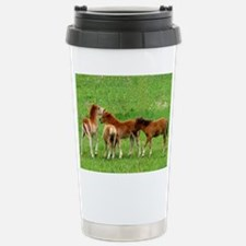 Mini Colts Playing In Field Travel Mug