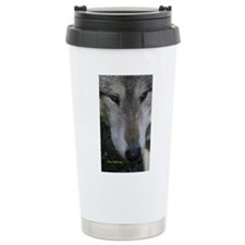 Wolf Portrait Travel Mug