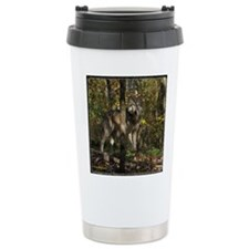 Wolf in Trees Travel Mug