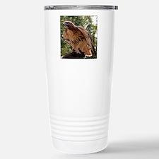 Red Tailed Hawk Ruffled Feath Travel Mug