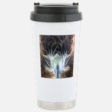 Red Tail Hawk Front Face Travel Mug