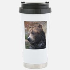 Grizzly Bear Cute Face Stainless Steel Travel Mug