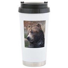 Grizzly Bear Cute Face Travel Mug