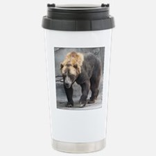 Grizzly Bear Walking Stainless Steel Travel Mug