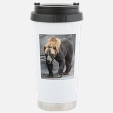 Grizzly Bear Walking Travel Mug