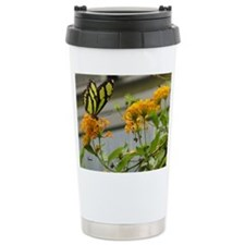Yellow Butterfly Travel Mug