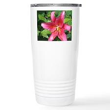 Pink Star Lily Travel Mug