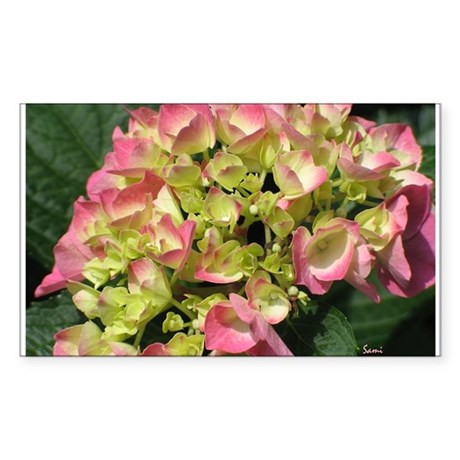 Hydrangea Rectangle Sticker