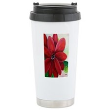 Bright, Bold Red Flower Travel Mug