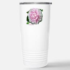 Pink Peony Stainless Steel Travel Mug