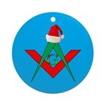 Masonic Santa Hat Ornament (Round)