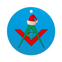 Masonic Santa Hat Ornament (Round)