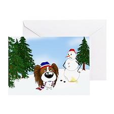 Papillon Holiday Greeting Card