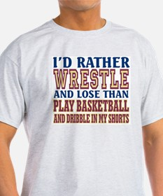 Wrestling Dribble In My Shorts T-Shirt