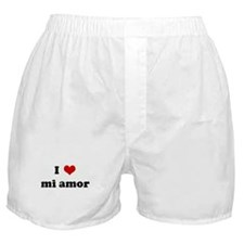 I Love mi amor Boxer Shorts