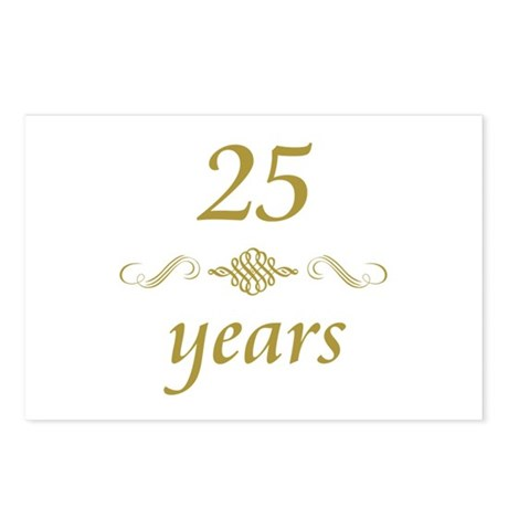 25th Anniversary Gifts Postcards (Package of 8)