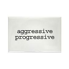 aggressive progressive - Rectangle Magnet