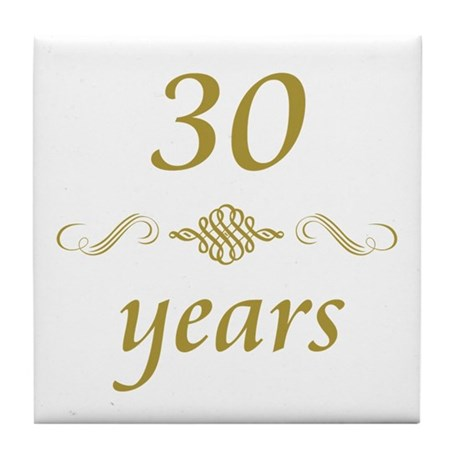 30th Anniversary Gifts Tile Coaster