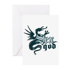 Sex God Greeting Cards (Pk of 10)