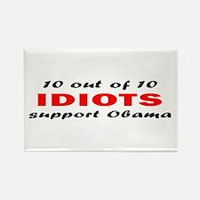 Anti Obama Idiots Rectangle Magnet