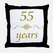 55th Anniversary Gifts Throw Pillow