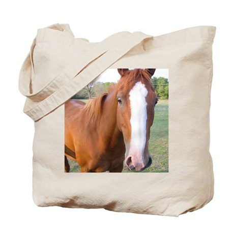 Looking at You Horse Tote Bag