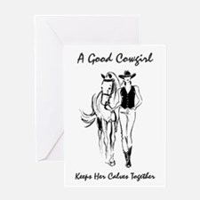 Good Cowgirl (horse) Greeting Card