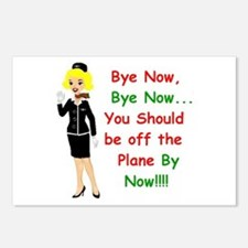 Cute Flight attendant Postcards (Package of 8)