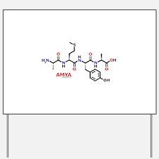 Amya name molecule Yard Sign