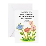 Breast cancer cards Greeting Cards